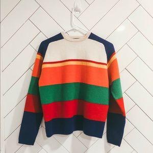 J. Crew Wool Color Block Sweater